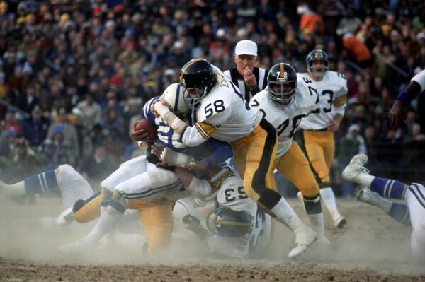 Tbt Steelers Old School Hard Nosed Steel Curtain Defense Courtesy Of