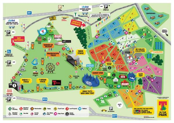 T In The Park Map T in the Park on Twitter: