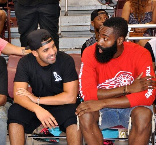 Photo of James Harden & his friend  Drake