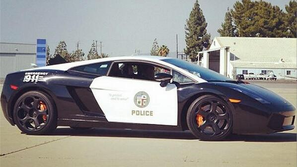 Good use of #taxpayer funds, right? RT @UberFacts: The #LAPD got a Lamborghini Gallardo added to its fleet http://t.co/9MZntU3Ieq