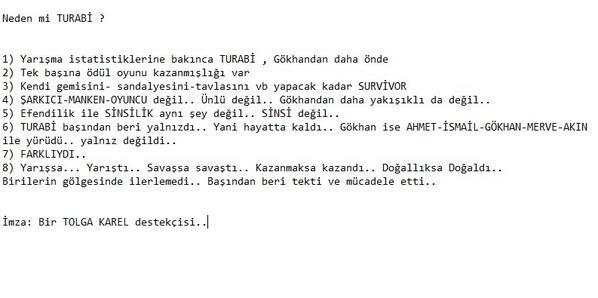 Neden Turabi ? Oynatalım Hocamm :) #survivor @Turabicamkiran http://t.co/x8N6FsUpy1