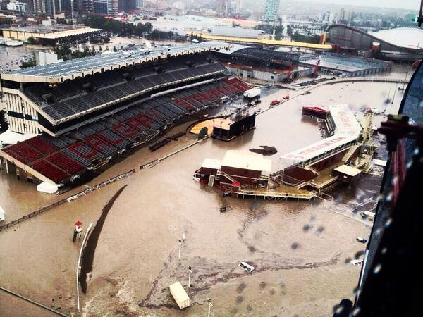 Last year 14 days before Day 1 of #CSRodeo the worst flooding in our history happened. #tbt #yyc http://t.co/GROwj0uth6