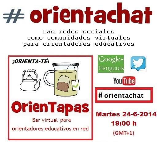 """Thumbnail for #orientachat durante Hangout: """"Las redes sociales como comunidades virtuales para orientadores educativos"""" (24-6-2014)"""