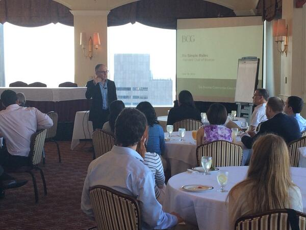 Peter Tollman talks #6simplerules at the @HarvardClubDTC now. What does it take to get the most out of your people? http://t.co/Comd4EuLbT
