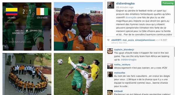 BqhpbQBCUAEPsK6 Didier Drogba confirms on Instagram that Serey Die was emotional, not crying over death of his father
