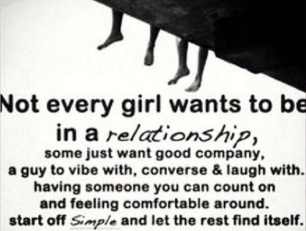 What does every girl want in a relationship