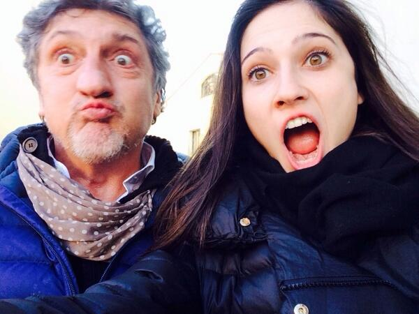 Photo of Lodovica Comello & her Father  Paolo Comello