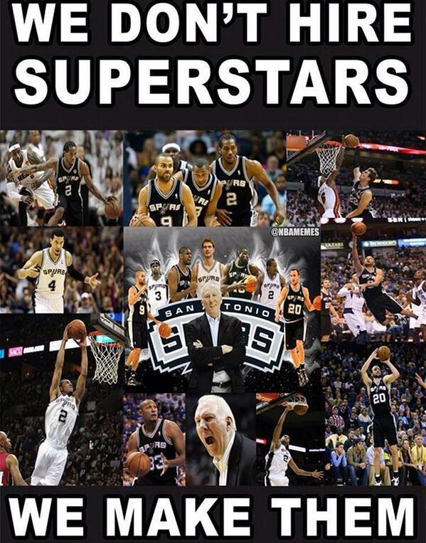 We don´t hire superstars. We make them