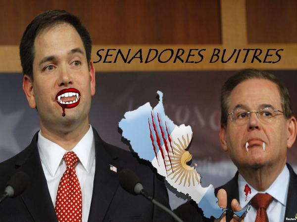 marco rubio y bob menendez senadores buitres