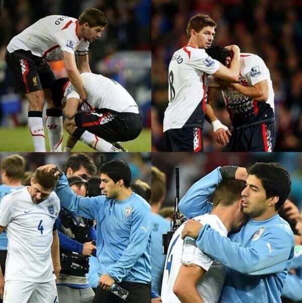 Luis Suarez And Steven Gerrard Reunited: Esteban Perez (@TetOuiille)