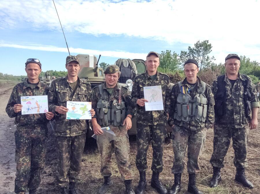 """""""Мы - миротворцы, а не захватчики или каратели"""", - солдат Нацгвардии рассказывает о детских рисунках, присланных в зону АТО - Цензор.НЕТ 5257"""