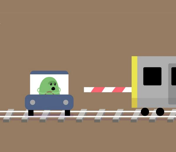 So that's what happens when you drive through a level crossing: http://t.co/yDgqq9y9AK http://t.co/iZ6kyOwrha