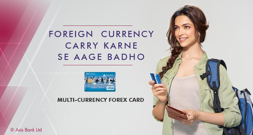 Axis forex card