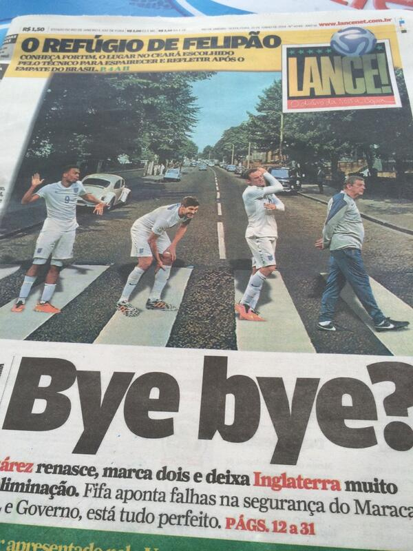 Just been given one of the Brazilian papers. #bbcworldcup http://t.co/f0DgvE68Wm