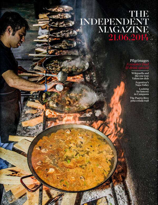 Tomorrow's @IndyMagazine Summer food & drink cover - amazing shot of a Valencian paella chef by @XavierCerveraV http://t.co/VfeVwzbpFK