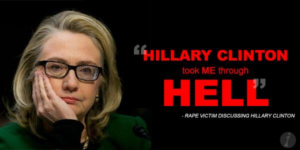 Rape victim: Hillary Clinton Took Me Through Hell