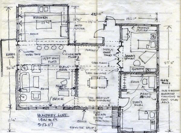 Moo On Twitter Concept Sketch Of The Humphrey Loft Gossip Danhumphrey Rufushumphrey Jennyhumphrey Http T Co Rdr81f8684
