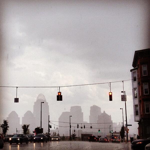Cincinnati Skyline in a Summer Shower http://t.co/UW0C7QzKBG