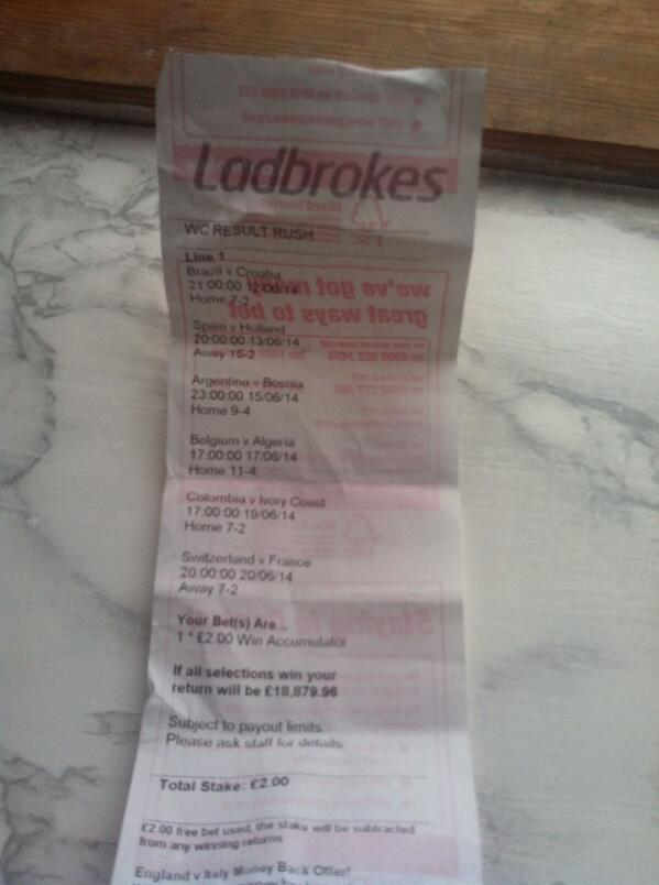 Result rush ladbrokes betting chris bettinger sfsu class