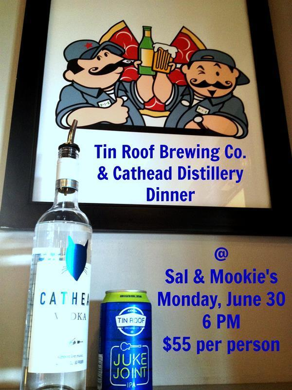 Who said beer & liquor don't go together? @SalandMookies beg to differ. @CATHEADVodka @TinRoofBrew - don't you agree? http://t.co/BXGPFy1eUf