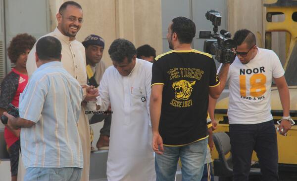 تغطيتي لـ تمرين الفريق + الاستقبال التاريخي للاسطورة محمد نور Full HD