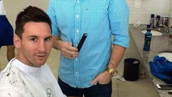 El ultimo corte de pelo de messi