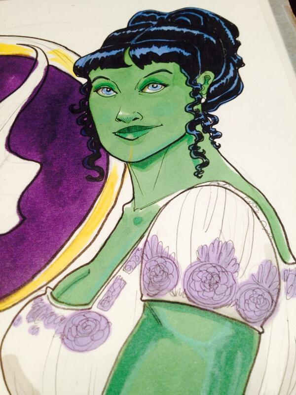 Regency-era She Hulk #HeroesCon2014 commission http://t.co/gB2QrEr2wD