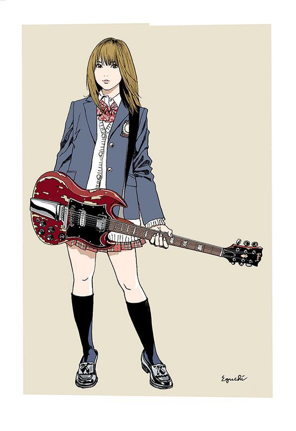 江口寿史さんの新作版画「SG」の画像はこちら。女子高生は間違いなく世界一ですね!  http://t.co/cFHH8DI817 http://t.co/dQnon3NaTa