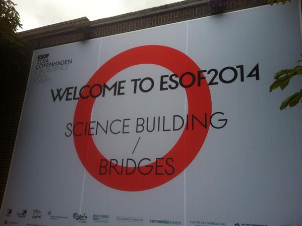Just arrived at #ESOF2014 with @celyagd for @HackYourPhd http://t.co/Lzf0NAkIub