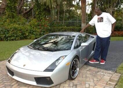 Celebrity Rides On Twitter Shaq S Custom Extended Lamborghini