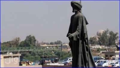 #Irak : l'#EIIL aurait détruit la statue du poète d'époque abbasside Abu Tammam (788-845) à #Mossoul. (c) Romain Caillet, Twitter, 21 juin 2014