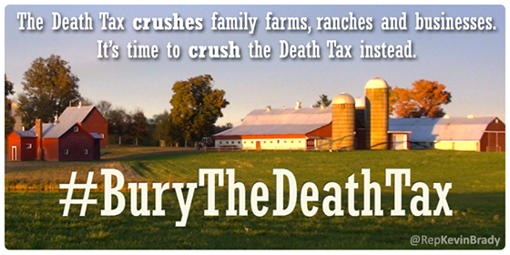 It's wrong for Uncle Sam to take almost half of what you spent a lifetime building. #BuryTheDeathTax #PJNET http://t.co/tErdYXGG3J