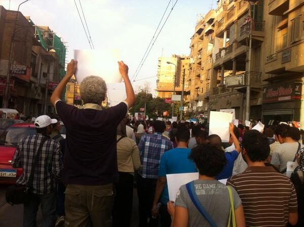 #noprotestlaw marching now in the main street bagdad st, showing anti #Sisi & army signs to ppl #egypt http://t.co/vp0AlIGDpZ