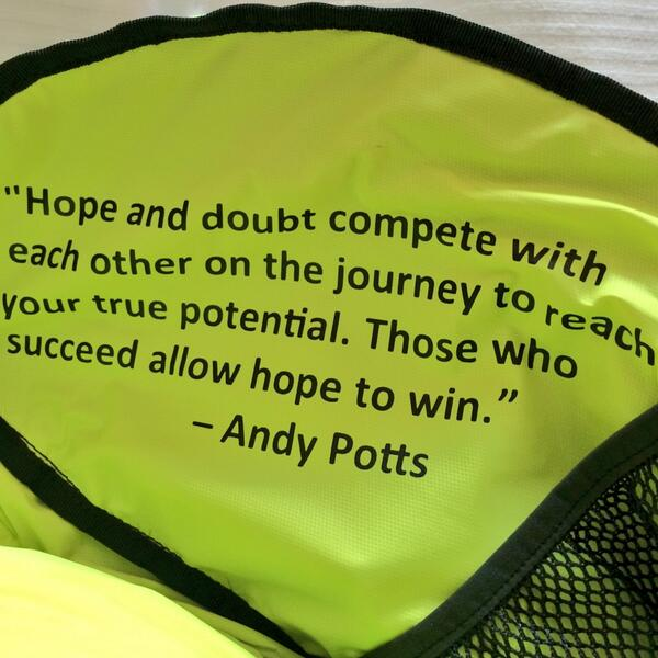 Cool quote printed inside this @NathanPerfGear tri bag pocket from @Andy_Potts, who helped design the bag http://t.co/3TiOoAd5oH