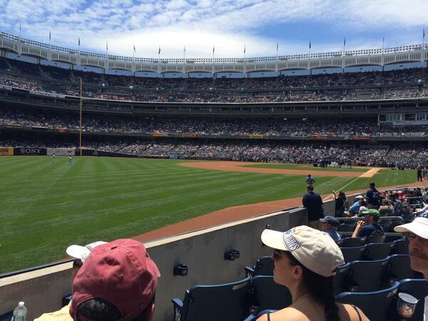 Amazing seats for #SUYankeeDay @SUinNYC 🍊💙 http://t.co/dO3THumdLW