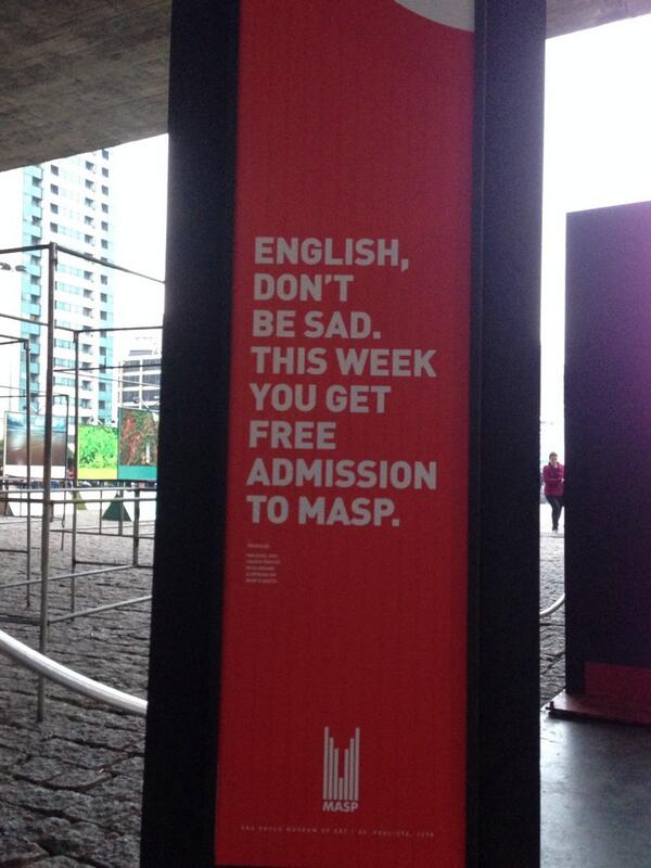Art museum consoles English World Cup fans