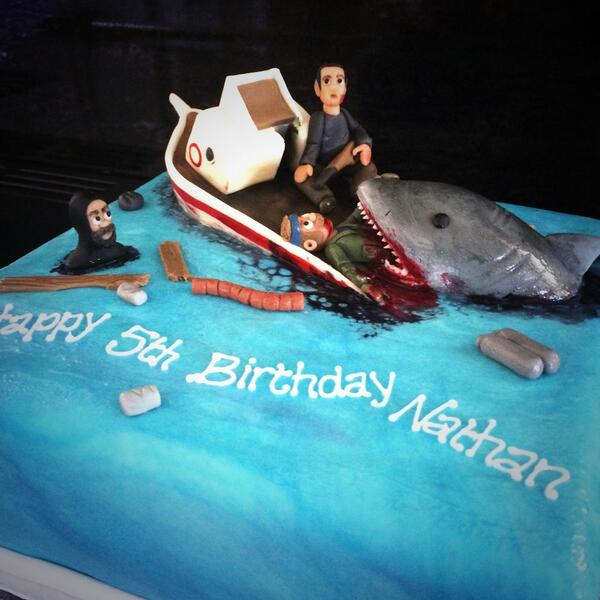 Gillian Bell On Twitter A Wee Cake For A 5year Old Jaws Fan