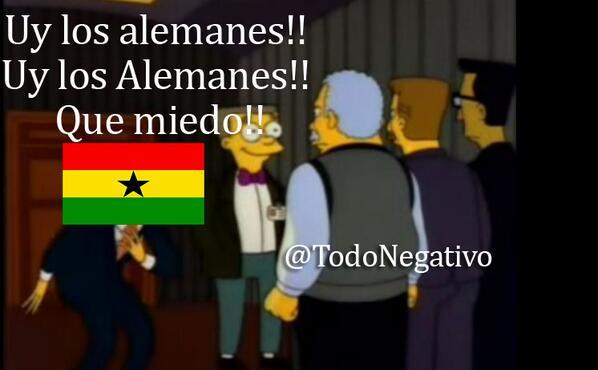"""Uy Los Alemanes, que miedo""  #GERvsGHA  #Alemania #Schweinsteiger http://t.co/iqzYHkqqnI"