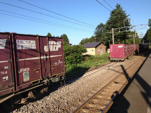 脱線して後ろの貨車は分離 pic.twitter.com/1rO13DmYTS