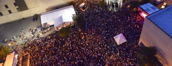 View from above. Just a few friends hanging out listening to legendary @GrammLou live. http://t.co/8kfvEcLck7