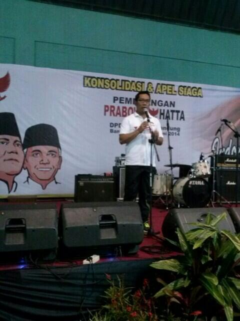Orasi Ridwan Kamil di acara Apel Siaga Pemenangan Prabowo-Hatta Kota Bandung
