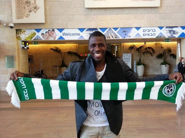 Idrissou in happier times with Maccabi Haifa