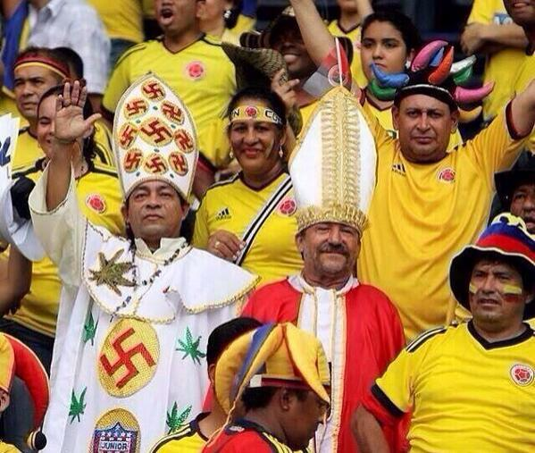 When I say 'most confused fan at the World Cup', I obviously mean after Columbian Nazi Weed Pope. Obviously. http://t.co/TXPVYcvHyo