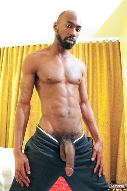Big man nude black
