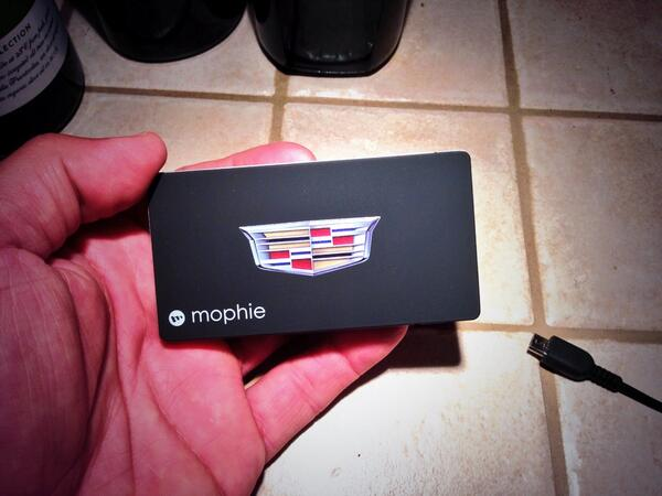 My kind of @Mophie Juice Pack. The @Cadillac Edition! #CTSdrive #CadillacDriverAcademy #swag http://t.co/DdUftzLzxN