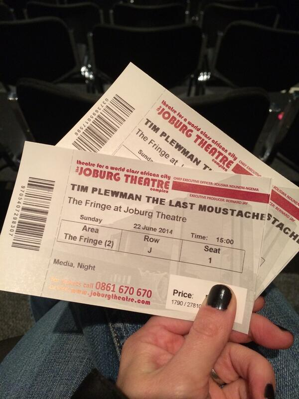 Do yourselves a favour & buy a set of these.  @TimPlewman absolutely blew me away today #LastMoustache @joburgtheatre http://t.co/Hj1UBtmbKp