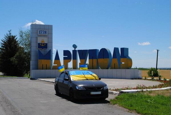 Автомайдан проехал Мариуполем впервые после освобождения города от боевиков - Цензор.НЕТ 8056