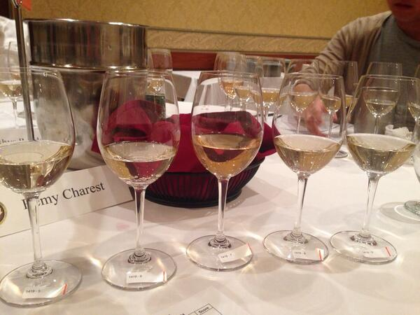 Judging wine = ranking them from gewurz to best? #NWAC14 #longdaypunday http://t.co/XGXLlqbpxy
