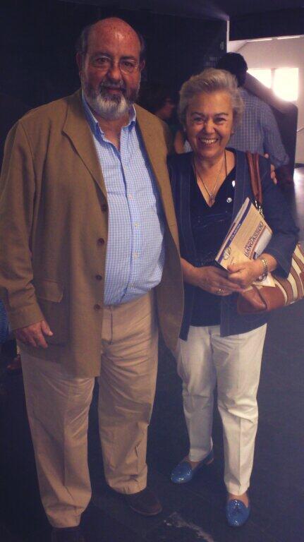 Soledad Suárez, presidenta de @ManosUnidasONGD y Miguel Aguirre, presidente @FBangassou
