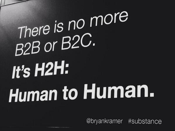 Twitter / bryankramer: There is no more B2B or B2C: ...